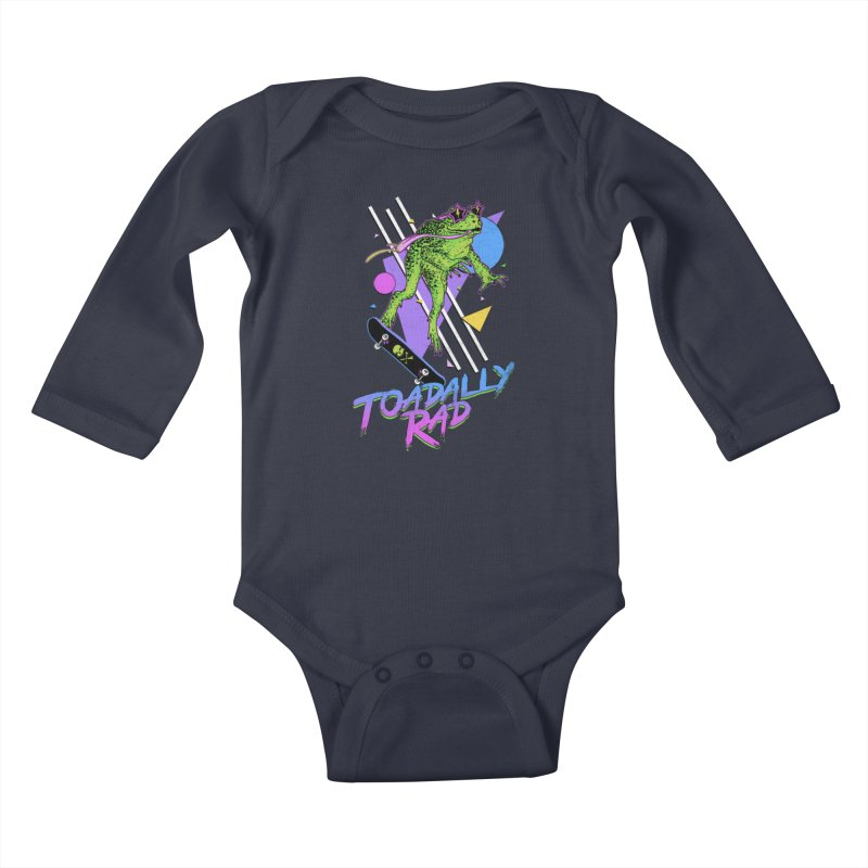 Toadally Rad Kids Baby Longsleeve Bodysuit by Hillary White