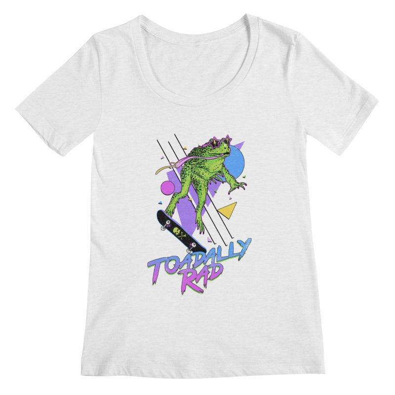 Toadally Rad Women's Regular Scoop Neck by Hillary White