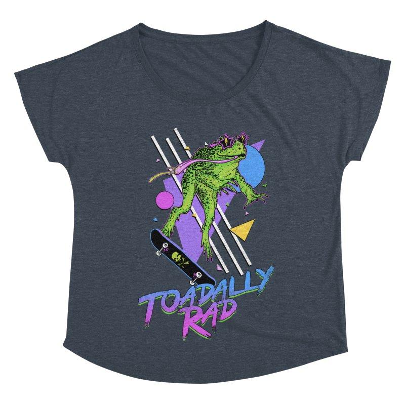 Toadally Rad Women's Dolman Scoop Neck by Hillary White