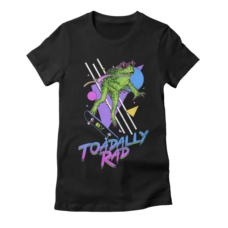 Toadally Rad Women's Fitted T-Shirt by Hillary White