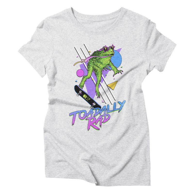 Toadally Rad Women's Triblend T-Shirt by Hillary White