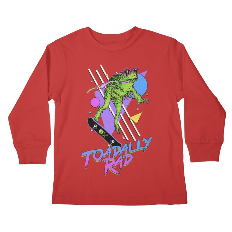 Toadally Rad Kids Longsleeve T-Shirt by Hillary White