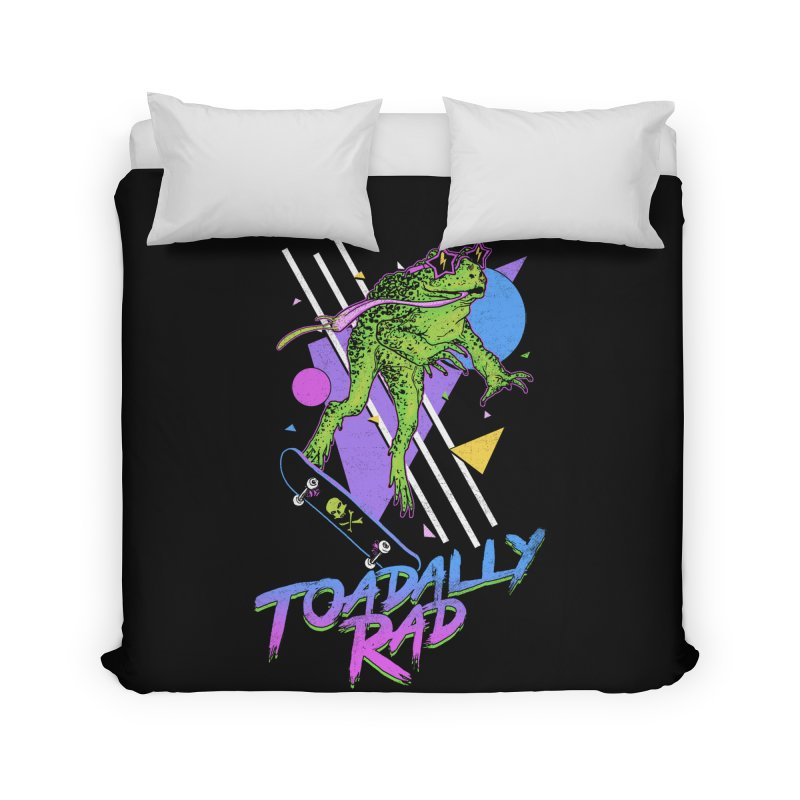 Toadally Rad Home Duvet by Hillary White