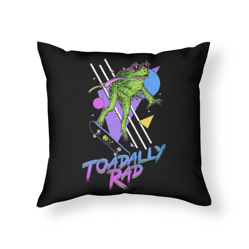 Toadally Rad Home Throw Pillow by Hillary White