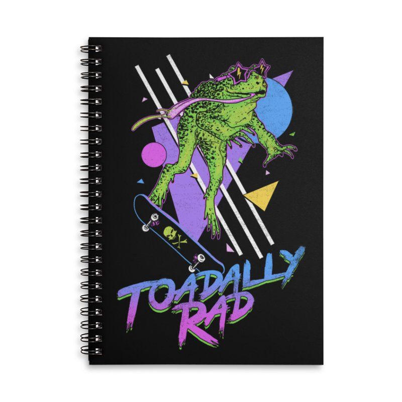 Toadally Rad Accessories Lined Spiral Notebook by Hillary White