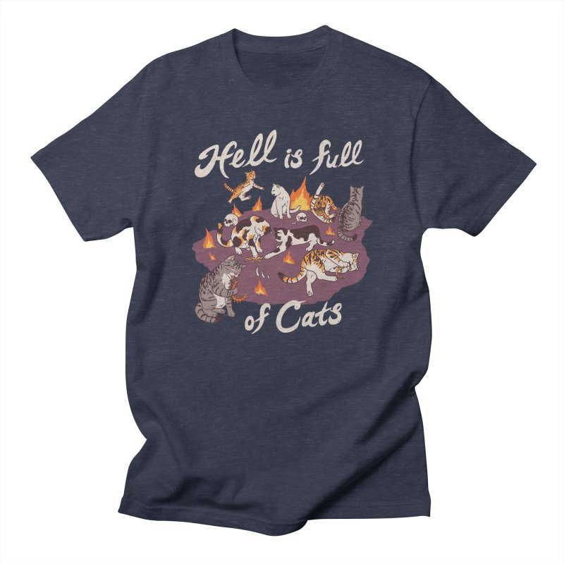 Hell Is Full Of Cats Men's Regular T-Shirt by Hillary White