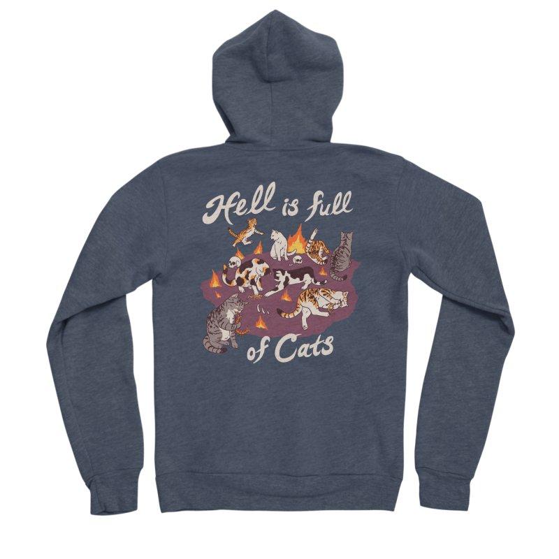 Hell Is Full Of Cats Men's Sponge Fleece Zip-Up Hoody by Hillary White