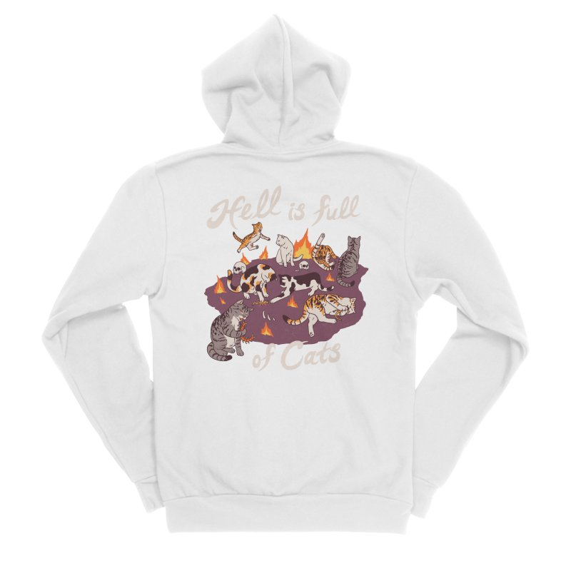 Hell Is Full Of Cats Women's Sponge Fleece Zip-Up Hoody by Hillary White