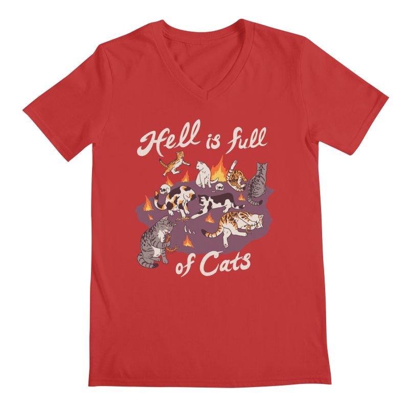 Hell Is Full Of Cats Men's Regular V-Neck by Hillary White