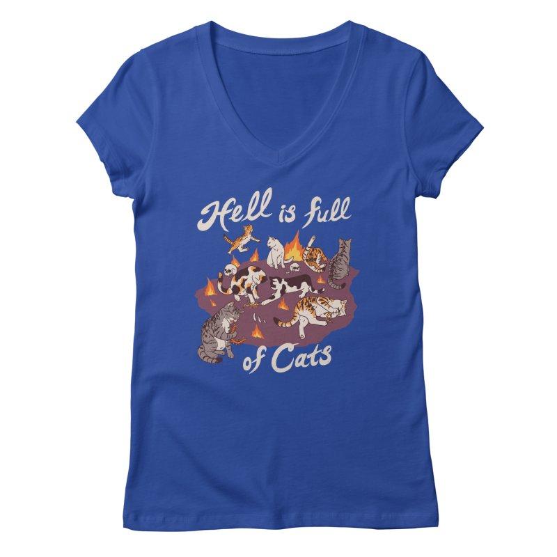 Hell Is Full Of Cats Women's Regular V-Neck by Hillary White