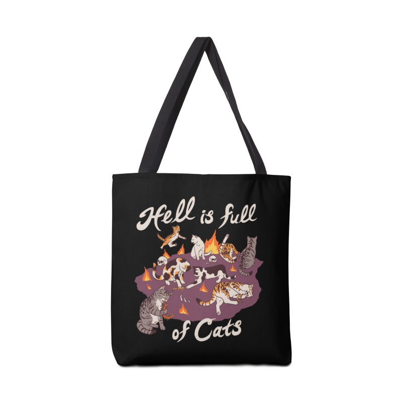 Hell Is Full Of Cats Accessories Tote Bag Bag by Hillary White