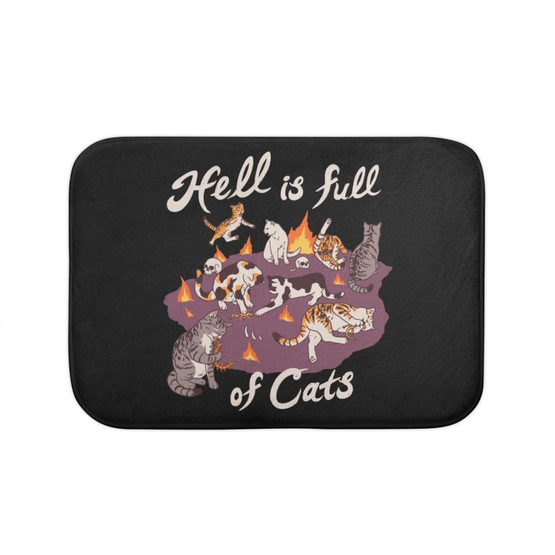Hell Is Full Of Cats Home Bath Mat by Hillary White