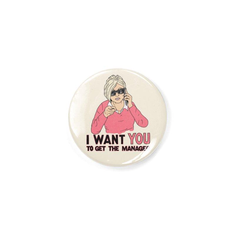Aunt Karen Accessories Button by Hillary White