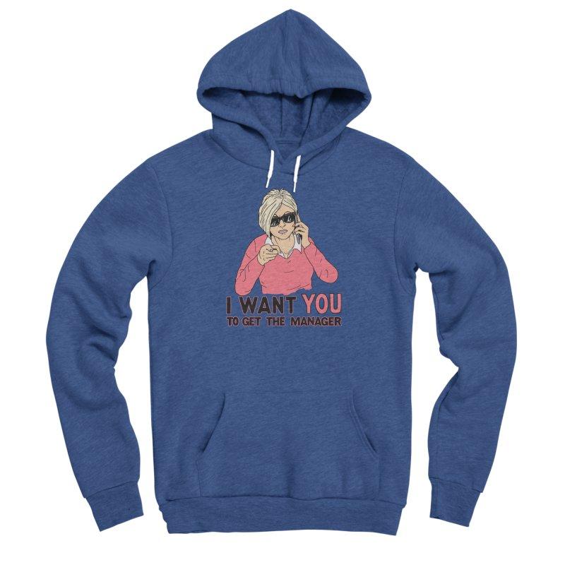 Aunt Karen Men's Sponge Fleece Pullover Hoody by Hillary White