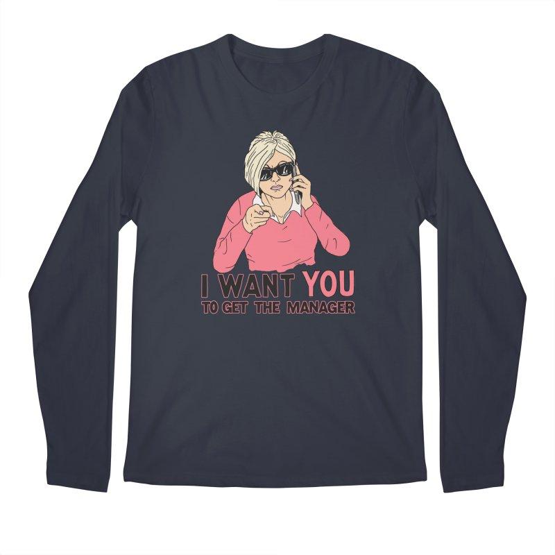 Aunt Karen Men's Regular Longsleeve T-Shirt by Hillary White