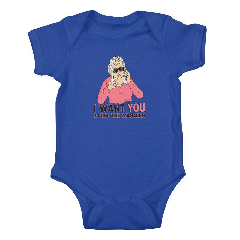 Aunt Karen Kids Baby Bodysuit by Hillary White
