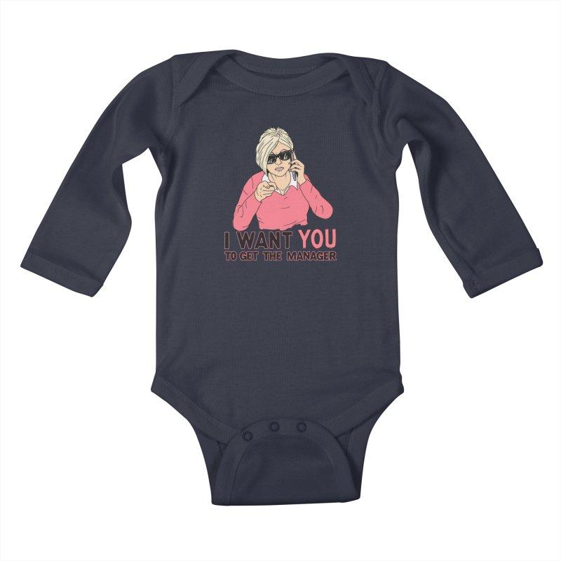 Aunt Karen Kids Baby Longsleeve Bodysuit by Hillary White