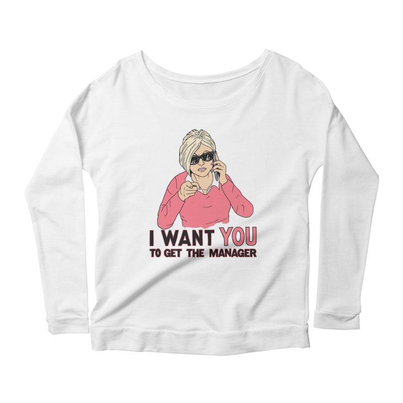 Aunt Karen Women's Scoop Neck Longsleeve T-Shirt by Hillary White