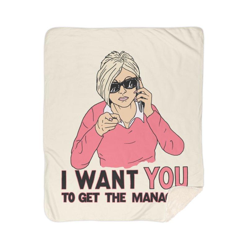 Aunt Karen Home Sherpa Blanket Blanket by Hillary White