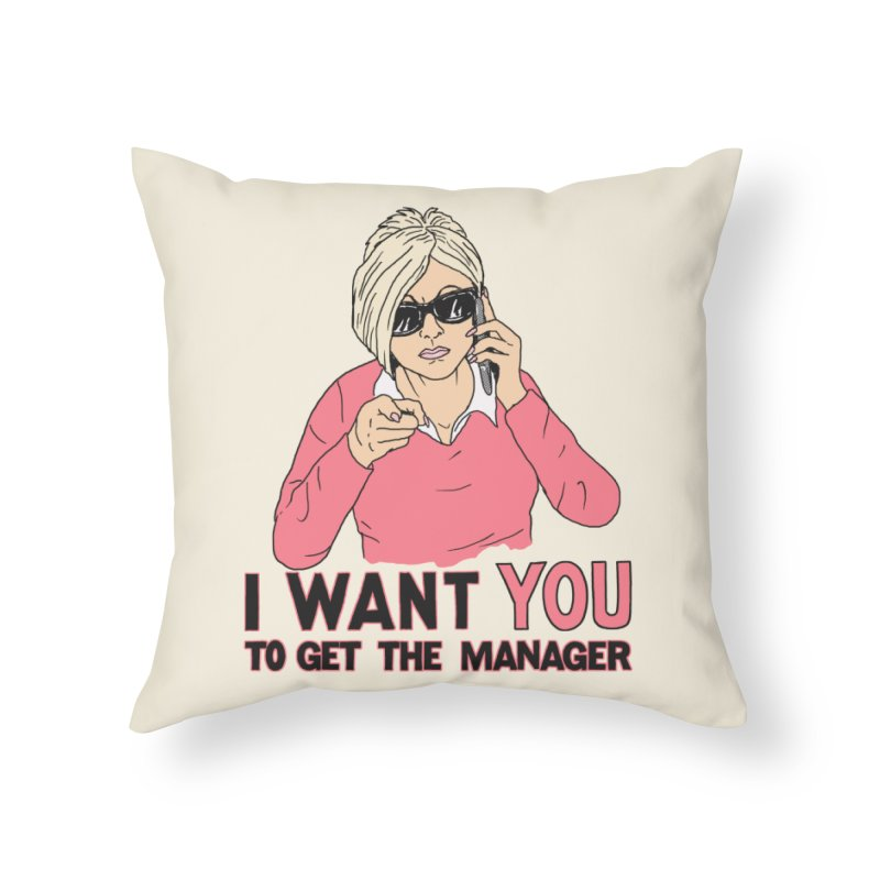 Aunt Karen Home Throw Pillow by Hillary White