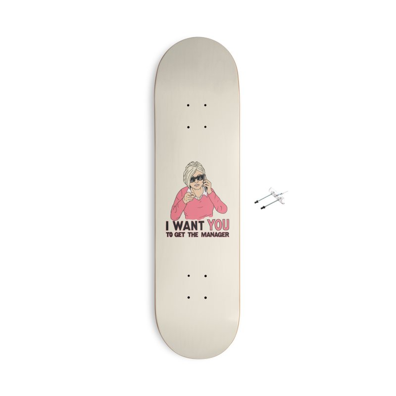 Aunt Karen Accessories With Hanging Hardware Skateboard by Hillary White