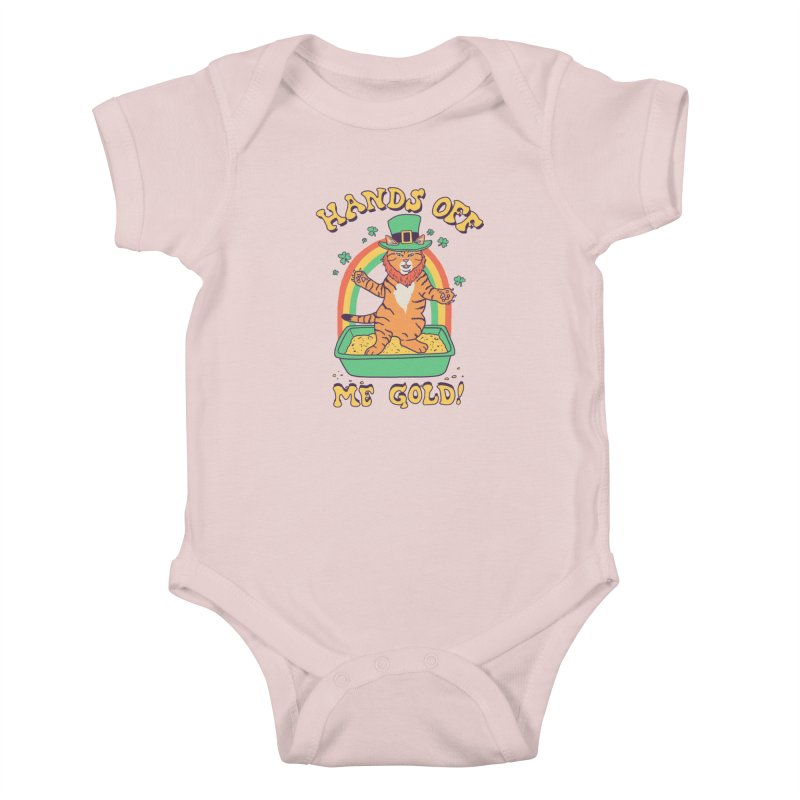 Box Of Gold Kids Baby Bodysuit by Hillary White