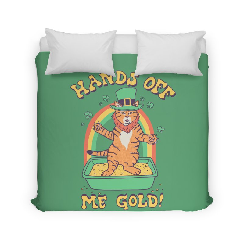 Box Of Gold Home Duvet by Hillary White