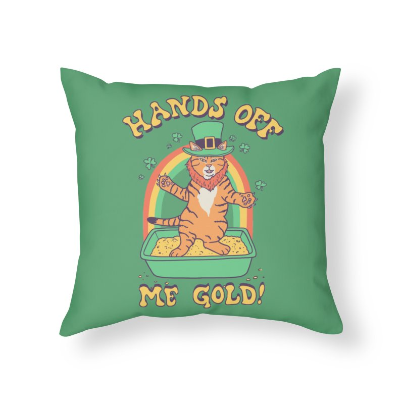 Box Of Gold Home Throw Pillow by Hillary White