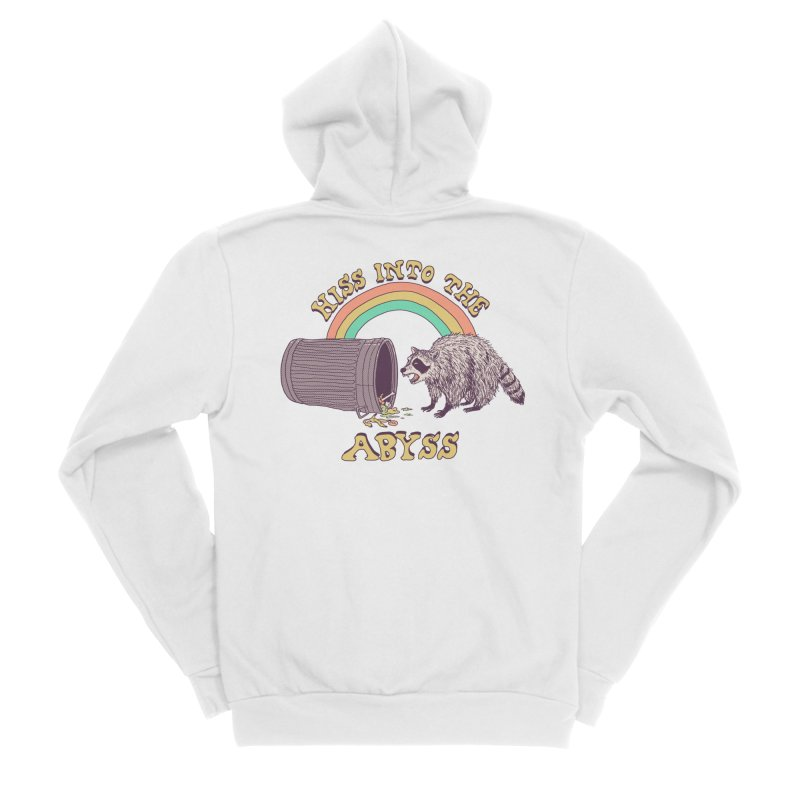 Hiss Into The Abyss Men's Sponge Fleece Zip-Up Hoody by Hillary White