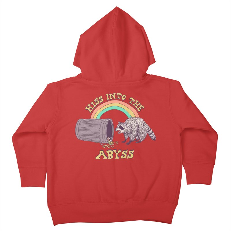 Hiss Into The Abyss Kids Toddler Zip-Up Hoody by Hillary White