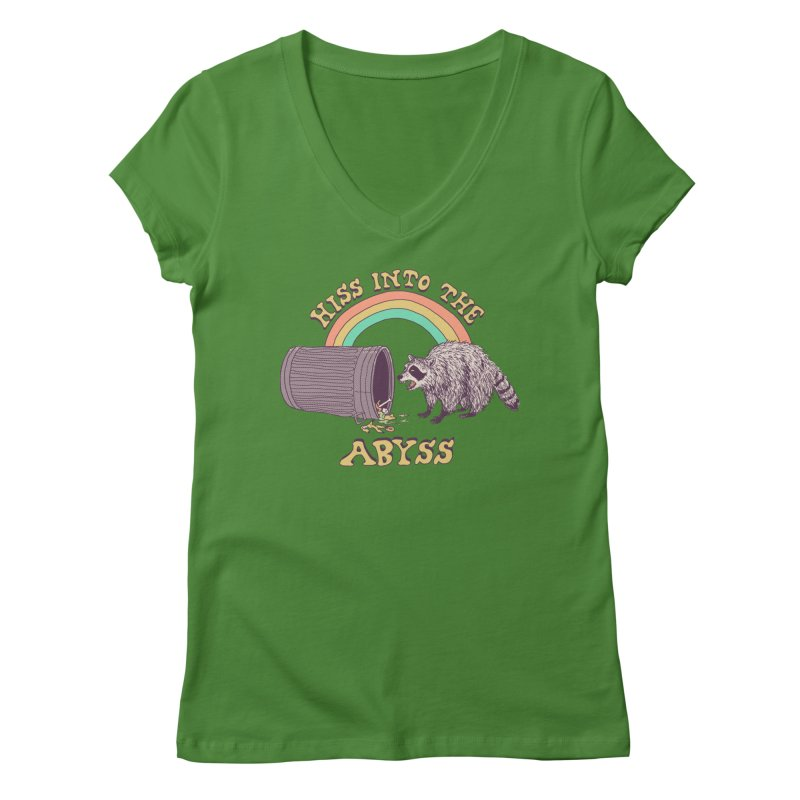 Hiss Into The Abyss Women's Regular V-Neck by Hillary White