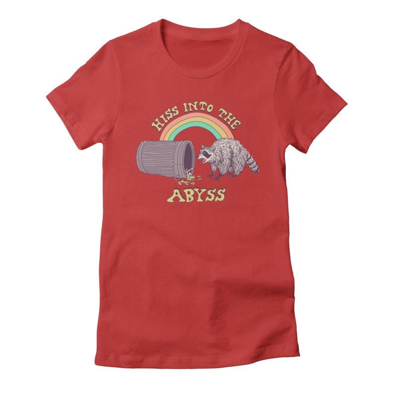 Hiss Into The Abyss Women's Fitted T-Shirt by Hillary White