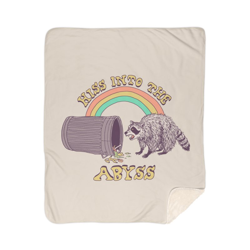 Hiss Into The Abyss Home Sherpa Blanket Blanket by Hillary White
