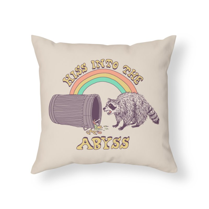 Hiss Into The Abyss Home Throw Pillow by Hillary White