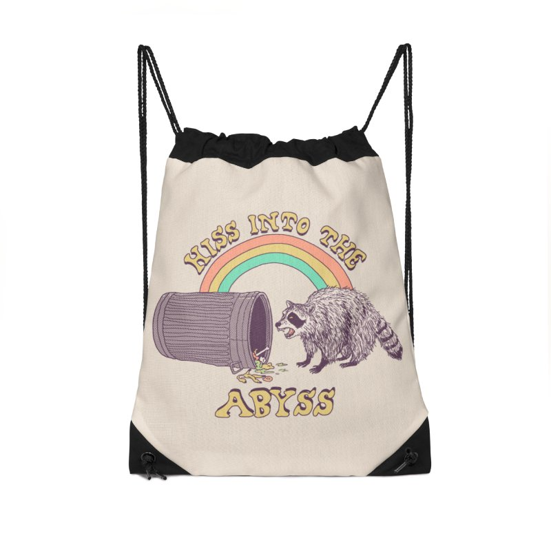 Hiss Into The Abyss Accessories Drawstring Bag Bag by Hillary White