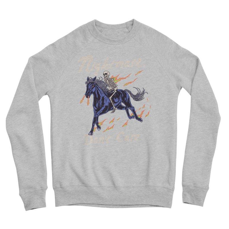 Nightmare, Don't Care Men's Sponge Fleece Sweatshirt by Hillary White