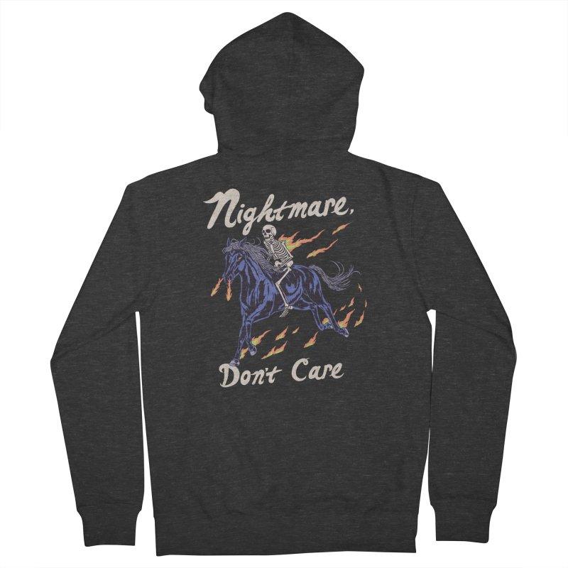 Nightmare, Don't Care Women's French Terry Zip-Up Hoody by Hillary White