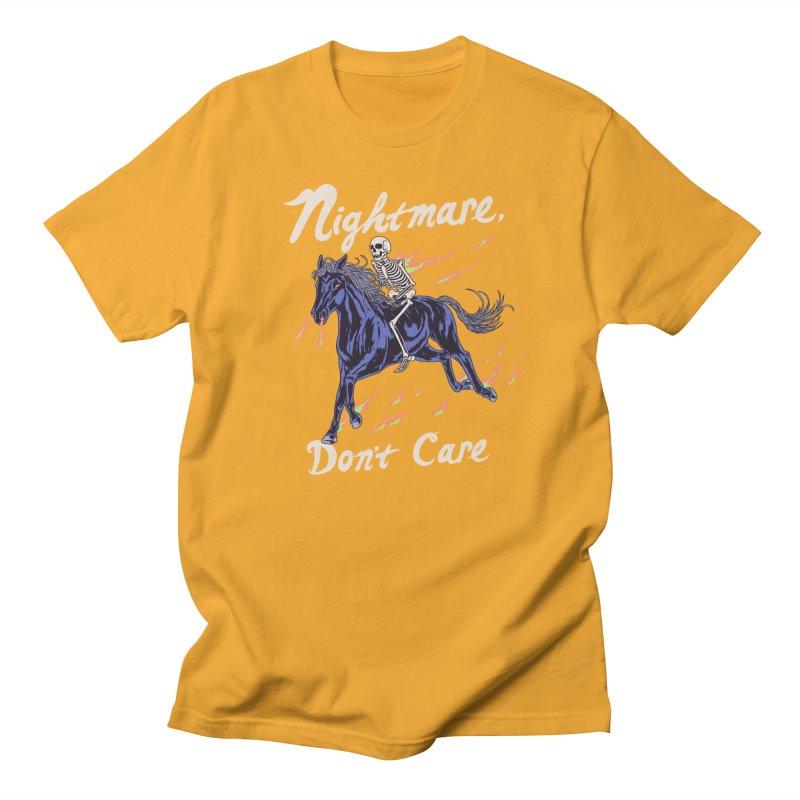Nightmare, Don't Care Men's Regular T-Shirt by Hillary White