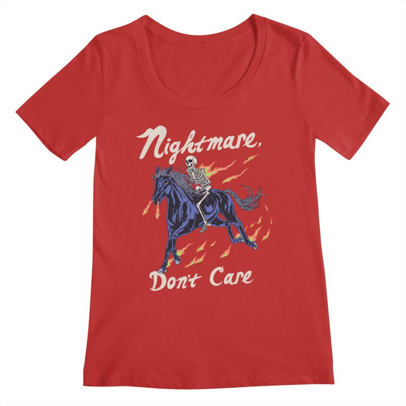 Nightmare, Don't Care Women's Regular Scoop Neck by Hillary White