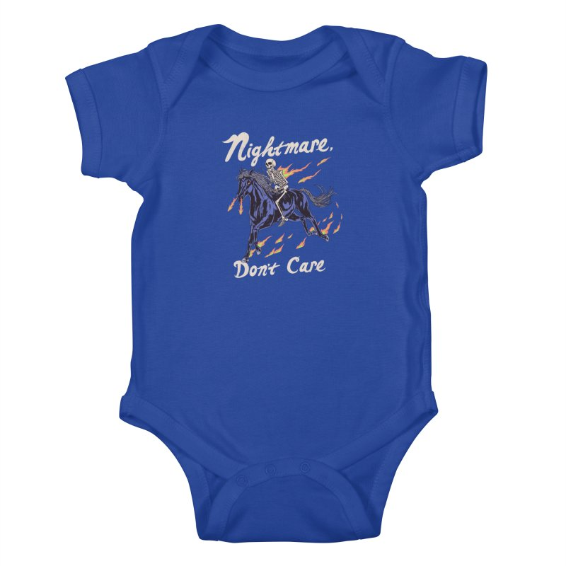 Nightmare, Don't Care Kids Baby Bodysuit by Hillary White