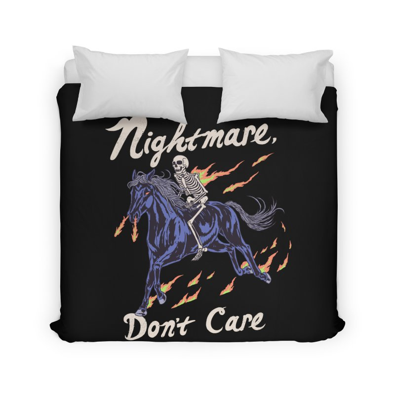 Nightmare, Don't Care Home Duvet by Hillary White