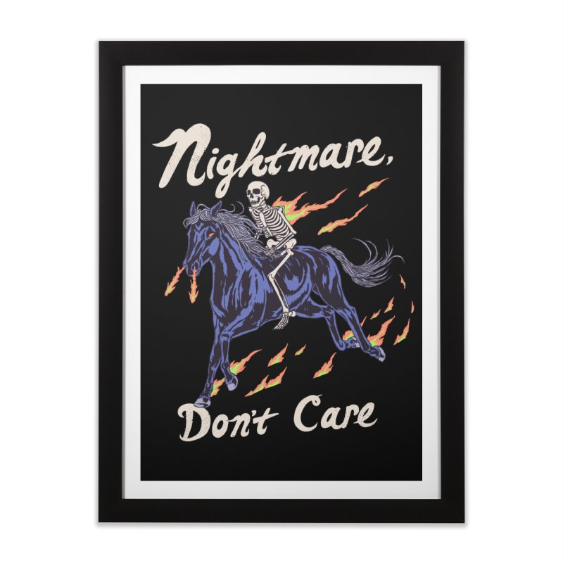 Nightmare, Don't Care Home Framed Fine Art Print by Hillary White