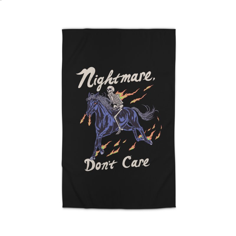 Nightmare, Don't Care Home Rug by Hillary White