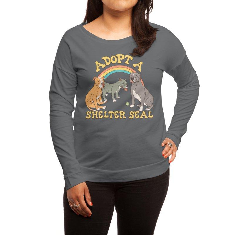 Adopt A Shelter Seal Women's Longsleeve T-Shirt by Hillary White