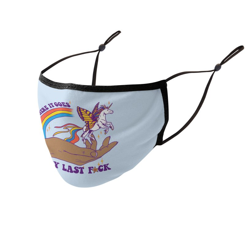 There It Goes 2 Accessories Face Mask by Hillary White Rabbit