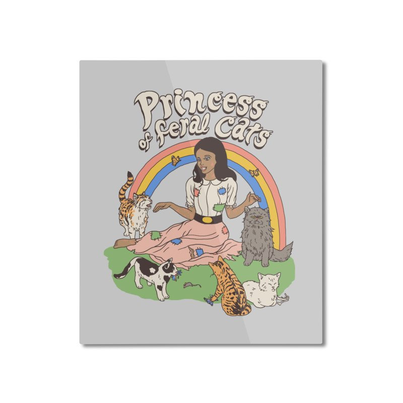 Princess Of Feral Cats 2 Home Mounted Aluminum Print by Hillary White