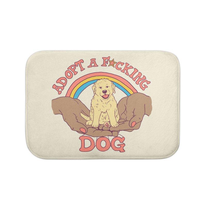 Adopt A F*cking Dog 2 Home Bath Mat by Hillary White Rabbit