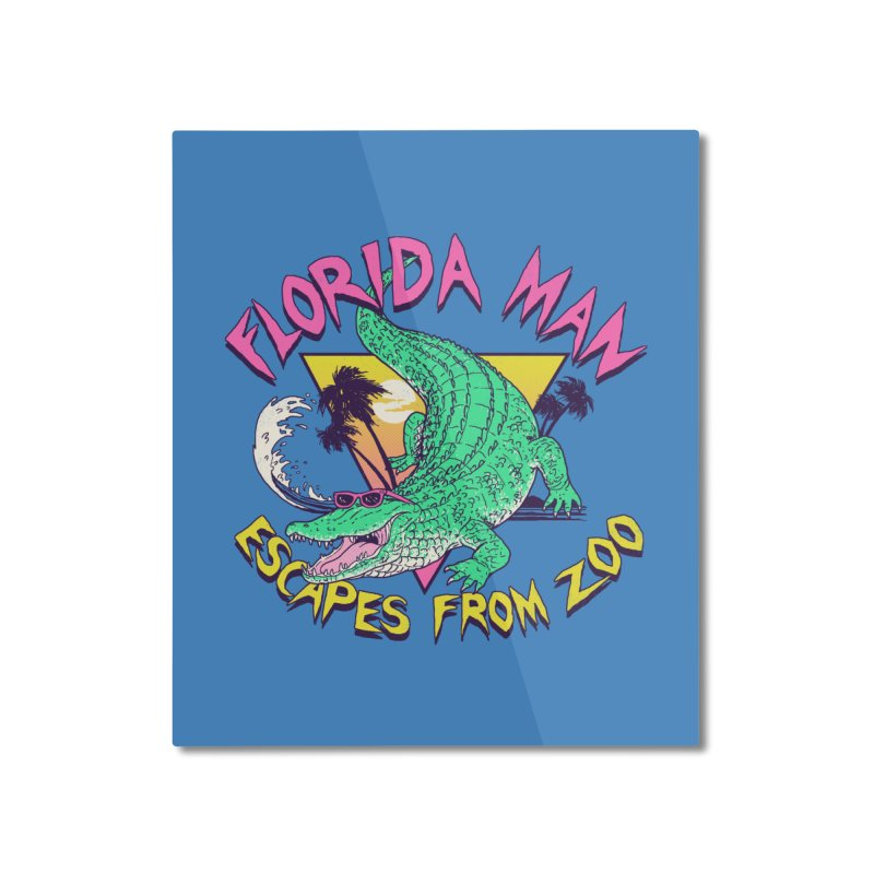Florida Man Escapes From Zoo Home Mounted Aluminum Print by Hillary White