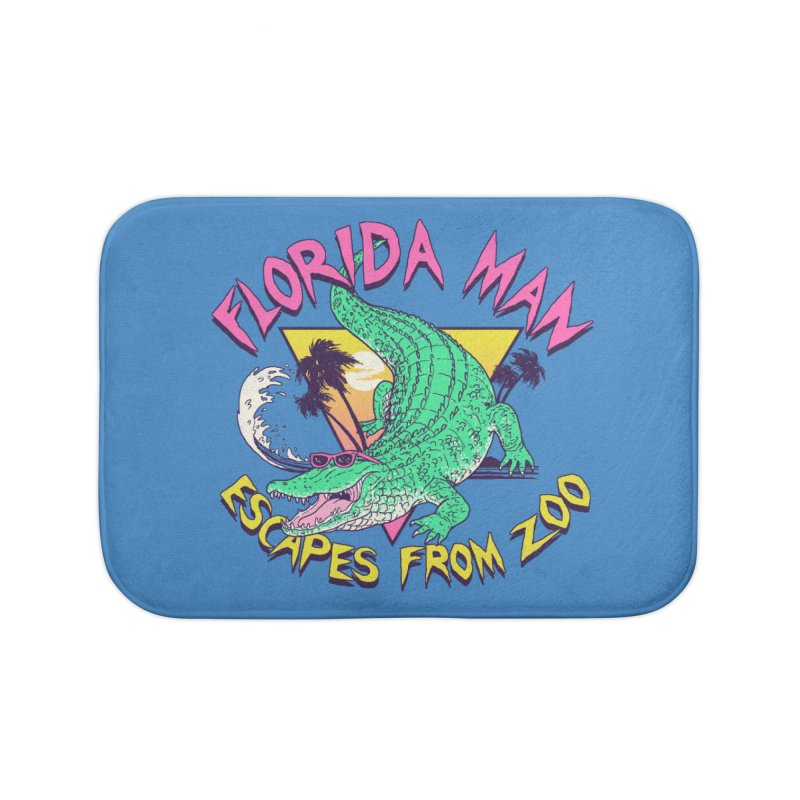 Florida Man Escapes From Zoo Home Bath Mat by Hillary White Rabbit