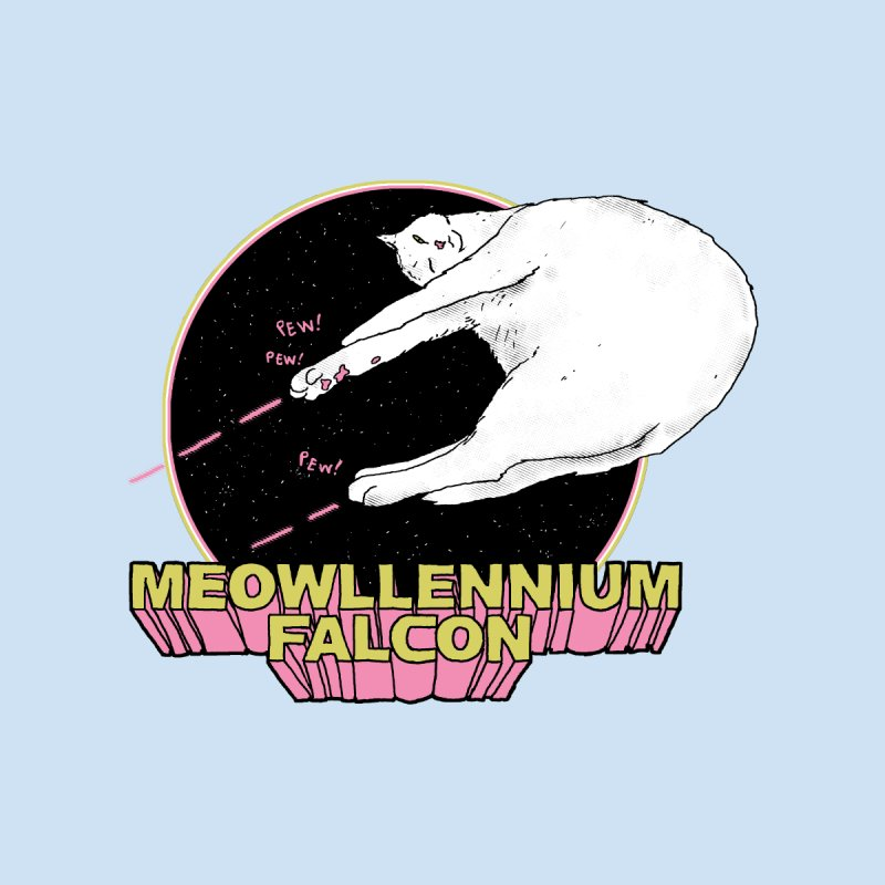 Meowllennium Falcon   by hillarywhiterabbit's Artist Shop